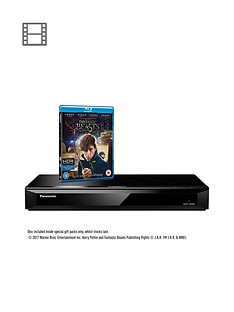 panasonic-dmp-ub400ebk-native-4k-ultra-hd-blu-ray-player-includes-fantastic-beasts-and-where-to-find-them-on-ultra-hd-blu-ray-disc-while-stocks-lastnbsp