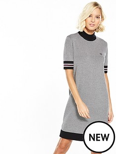 fred-perry-fred-perry-houndstooth-knitted-dress