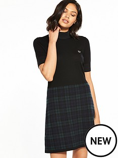 fred-perry-blackwatch-knitted-dress
