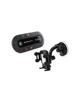 Supertooth Buddy HandsFree Bluetooth Visor CarKit And InCar Holder  Black