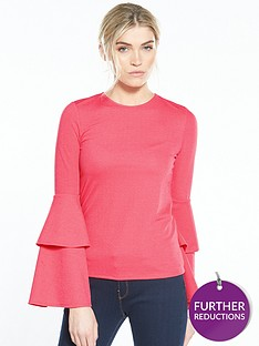 v-by-very-crepe-double-frill-sleeve-top