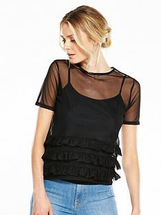 v-by-very-mesh-frill-top-black
