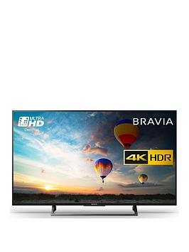 Sony Bravia Kd43Xe8004 43Inch 4K Hdr Ultra Hd Smart Android Tv&Trade With Youview And Freeview Hd  Black