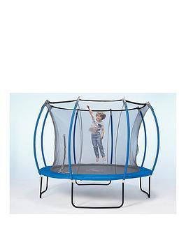 Plum Colours By Plum 10Ft Trampoline &Amp Enclosure  Reversible Blue &Amp Lime