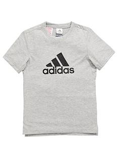 adidas-older-boys-poly-logo-tee