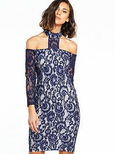 ax-paris-lace-choker-midi-dress