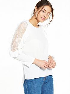 ax-paris-lace-cold-shoulder-blouse
