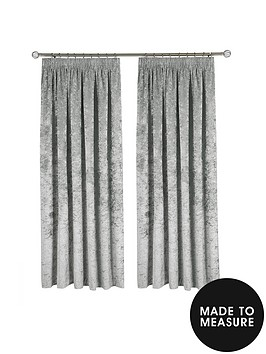 Made To Measure Luxury Crushed Velvet Pencil Pleat Up 140cm W X 122cm D Littlewoods