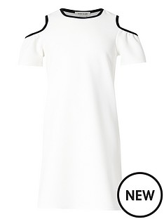 river-island-girls-white-tipped-cold-shoulder-dress