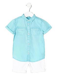 river-island-mini-boys-blue-shirt-and-denim-shorts-outfit