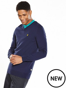 lyle-scott-lyle-amp-scott-golf-v-neck-pullover-jumper