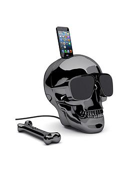 Jarre Aeroskull Hd  Wireless Speaker  Chrome Black