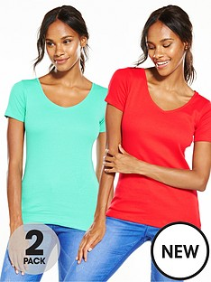 v-by-very-pack-of-2-v-neck-rib-t-shirts