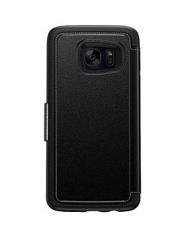 Otterbox Samsung Gs7 Edge Otterbox Strada Case  Phantom Black (Black)
