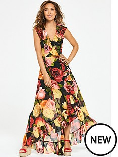 myleene-klass-sleeveless-ruffle-high-low-maxi-dress