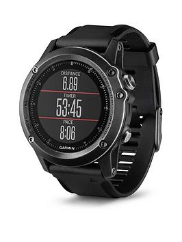 Garmin Fenix 3 Sapphire Hr  Grey With Black Silicone Band