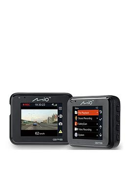 Mio Mivue C330 Dash Cam With 1080P Recording Gps Safety Camera Alerts 3 Axis GSensor 2 Inch Lcd Screen