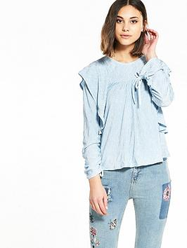 river-island-frill-drawstring-top