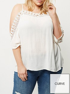 ri-plus-white-crochet-cold-shoulder-top