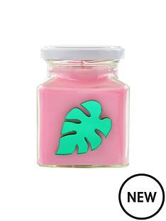 flamingo-candles-metallic-green-palm-leaf-candle