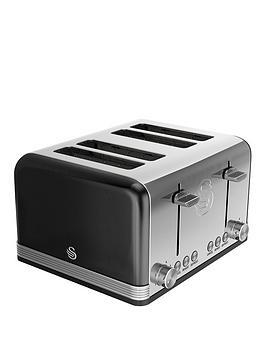 Swan Swan St19020Bn 4-Slice Retro Toaster - Black Picture