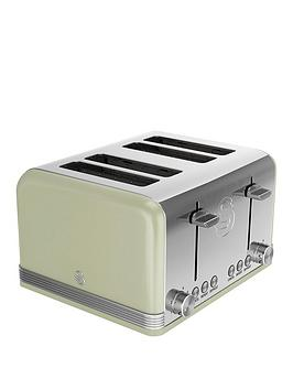 swan-st19020gn-4-slice-retro-toaster-green