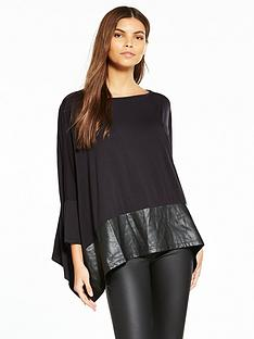 replay-batwing-leather-panel-jersey