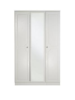 Swift Columbia Ready Assembled 3 Door Mirrored Wardrobe