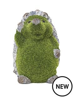 paroh-hedgehog-flocked-garden-ornament