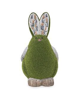 paroh-rabbit-flocked-garden-ornament