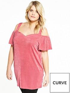 v-by-very-curve-cold-shoulder-bardot-top-pink