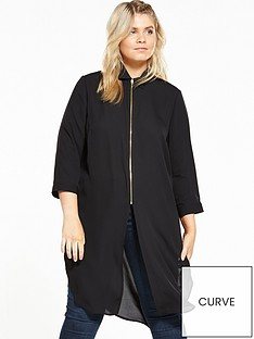 v-by-very-curve-zip-longlinenbspblouse
