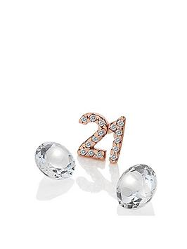 Anais Anais Rose Gold Plated Sterling Silver 21 Charm