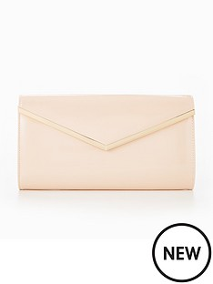 v-by-very-clemmie-patent-clutch-bag