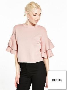 ri-petite-frill-sleeve-knit
