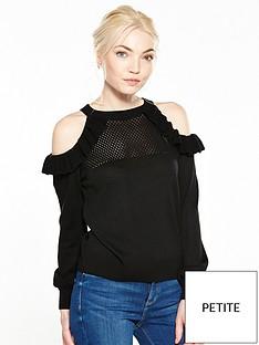 ri-petite-ri-petite-cold-shoulder-knit-top