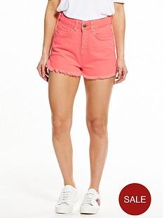 v-by-very-petite-high-waisted-denim-shorts