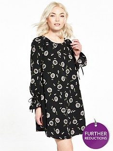ri-petite-black-floral-smock-dress