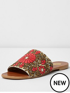 river-island-floral-embroidered-slider