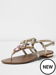 river-island-river-island-coloured-embellished-flat-sandal
