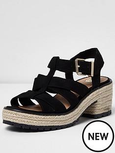river-island-river-island-chunky-metallic-espadrille-trim-sandal
