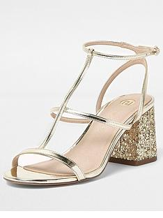 river-island-river-island-block-heel-sandal-with-glitter-heel
