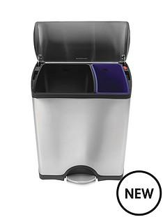 simplehuman-simplehuman-rectangular-recycler-pedal-bin-46-litre