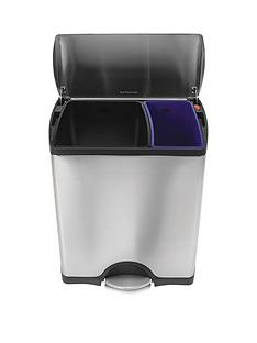 simplehuman-stainless-steel-rectangular-recycler-bin