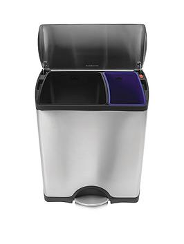 Simplehuman Stainless Steel Rectangular Recycler Bin