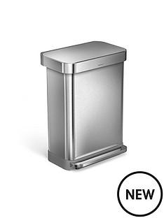 simplehuman-simplehuman-rectangular-pedal-bin-55-litre