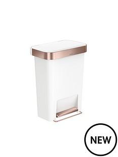 simplehuman-simplehuman-rectangular-plastic-pedal-bin-45-litre