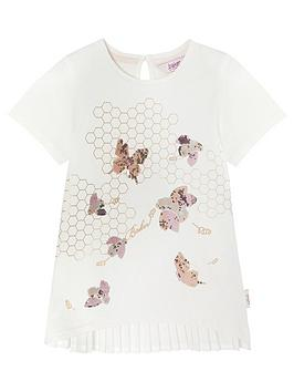 Baker By Ted Baker Girls Sequin Embellished Bee TShirt