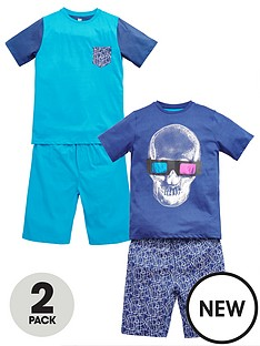 v-by-very-boys-glow-in-the-dark-shortynbsppyjamas-2-pack