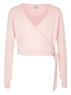 river-island-ri-active-long-sleeve-pink-ballet-wrap-top
